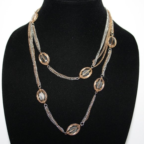 """40"""" silver and gold LOFT necklace"""